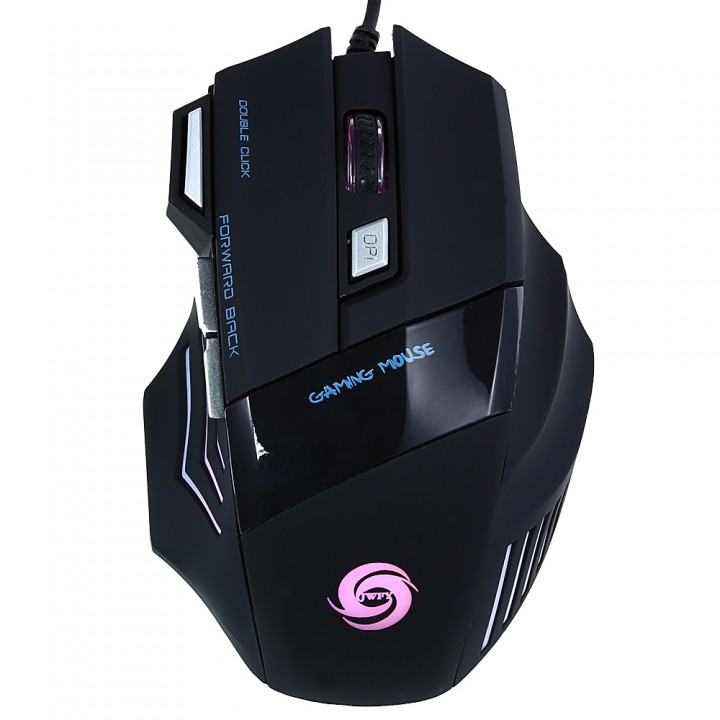 JWFY Professional USB Wired Gaming Mouse 7 Buttons BLACK