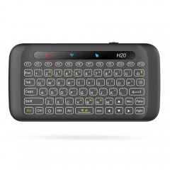 H20 Wireless Mini Keyboard Touchpad with Backlight BLACK