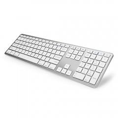 BK418 Bluetooth Keyboard Ultra-slim Design 104 Key WHITE