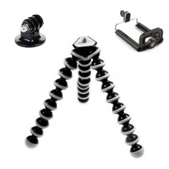 Camera Mobile Phone Octopus Tripod+Mount Adapter S BLACK