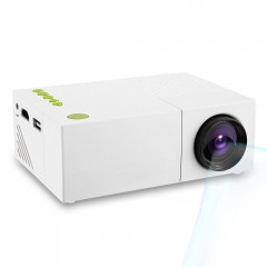 YG310 LCD Projector High Resolution LED Projection WHITE AU PLUG