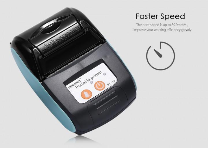 GOOJPRT PT - 210 58MM Bluetooth Thermal Printer Portable Wireless Receipt Machine for Windows Android iOS