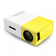 Wilkab YG-300 Mini HD LCD Projector 400-600LM 320x240 high quality Portable Home mobile Theater YELLOW AU PLUG