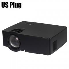 E08 LCD Projector 1500 Lumens 800 x 480 Pixels 108 BLACK US PLUG