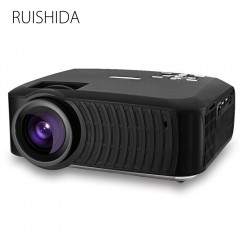 RUISHIDA M3 LCD Projector Android 4.4 Wireless Blu BLACK US PLUG