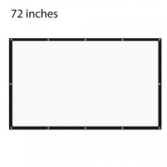 72 inch 16:9 Folding Projection Screen High Bright WHITE