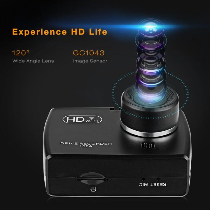 ZEEPIN F150A WiFi Dash Cam App WDR Car Driving Rec BLACK