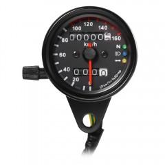 12V Motorbike Tachometer Speedometer Dual Display  BLACK