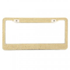 Artificial Diamante USA License Plate Frame Stainl CHAMPAGNE