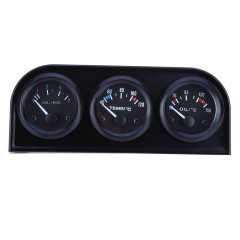 B735 52MM 3 in1 Car Accuracy Meter Auto Gauge Wate BLACK