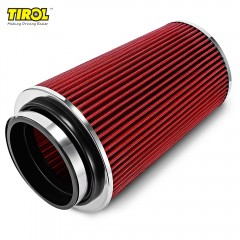 TIROL T21775 Air Filter Universal Auto Cold Air In RED