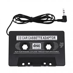 Car Cassette Tape Adapter Transmitter for MP3 / CD BLACK