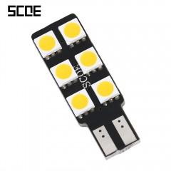 SCOE T10 6B 6SMD LED Single Sided Eye-protection R WARM WHITE LIGHT