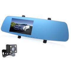 RH - 655 5 Inch Dual Lens Car DVR Recorder Full HD BLACK SILVER FRAME