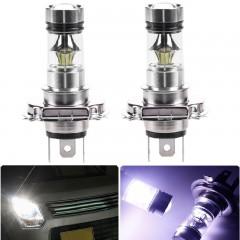 2PCS H4 20SMD 3030 100W 6500K -7000K LED Bulb for  SILVER WHITE LIGHT