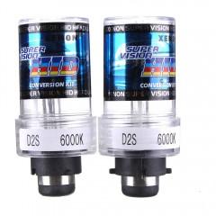 2 X 35W D2S Car HID White Xenon Headlight Light La TRANSPARENT 8000K