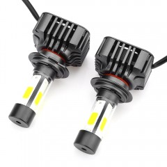 Paired V8 H7 40W Integrated LED Vehicle Headlight  METALLIC