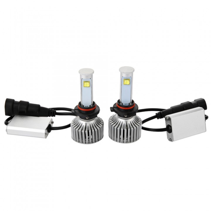 9006 - A 6000K X7 LED Headlight Bulbs All-in-one C BLACK