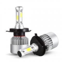 S2 H4 Pair of Car LED Headlight 9 - 30V 72W 6000K  SILVER