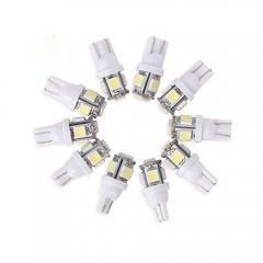 10PCS T10 W5W 159 194 LED Bulb 2.5W 6500K LED Car  WHITE 10PCS