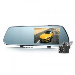 GOU US66 Rear Mirror Dual Camera Dash Cam 170 Degr BLACK
