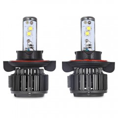 Paired K7 H13 80W Integrated LED Vehicle Headlight BLACK
