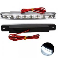 2pcs Super Bright White 8 LED DC12V DRL Car Daytim WHITE LIGHT