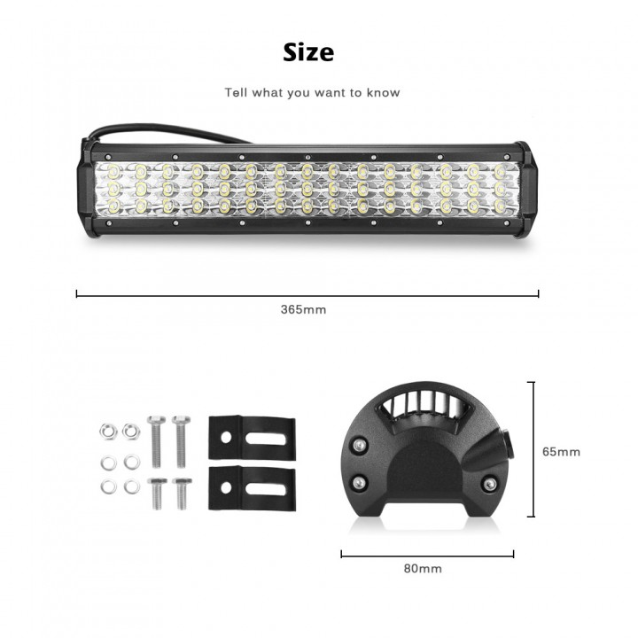 10 - 30V 135W LED Light Bar Flood Spot Combo Work Lights for Truck Car
