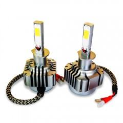 2pcs 40W 4000LM H1 LED Light Car Headlight 6000K V BLACK