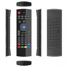 MX 2.4G Wireless Remote Control Keyboard Air Mouse BLACK