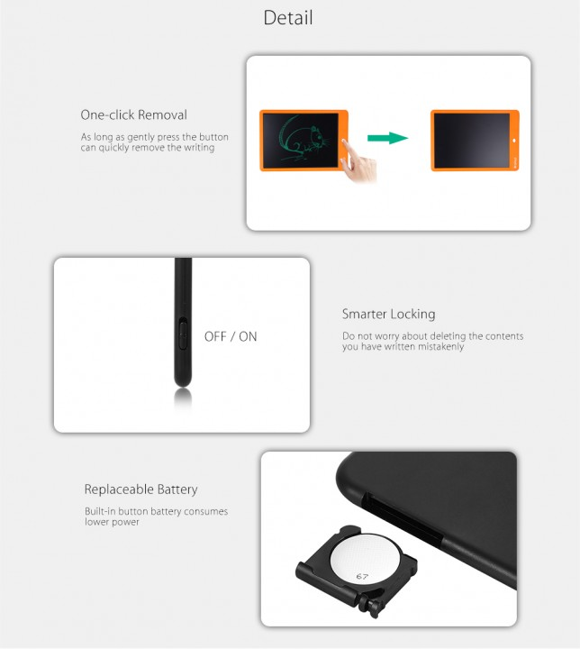 ainol 10 inch LCD Writing Tablet Drawing Board with One-click Removal