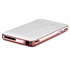 D02 DLP Mini Projector 32GB Android 4.4 Wireless P ROSE GOLD US PLUG