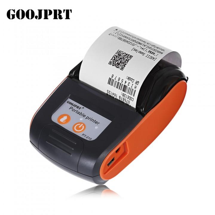 GOOJPRT PT - 210 58MM Bluetooth Thermal Printer Po ORANGE RED EU PLUG