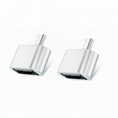 TOCHIC USB to Micro USB Male Adapter for USB Stick SILVER