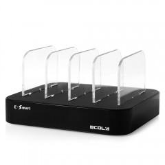 ECOLA 4 Ports USB Intelligent High-speed Charging  BLACK