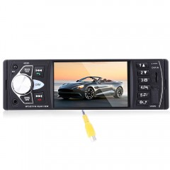 4022D 4.1 Inch Car MP5 Player Stereo Audio Bluetoo BLACK WITH CAMERA