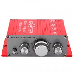 HY - 2001 Hi-Fi 12V Mini Auto Car Stereo Amplifier RED