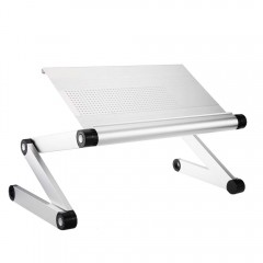 OMAX A6 Folding Computer Table Bed Tray Desk Adjus SILVER