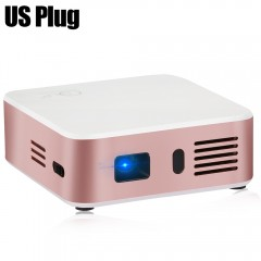 E05 Mini DLP Pocket Projector Android 4.4.4 RK3128 ROSE GOLD US PLUG