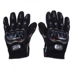 Paired Full Finger Motorcycle Gloves Motorbike Out BLACK L