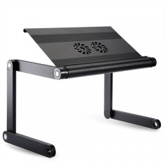 OMAX A8 Folding Computer Table Bed Tray Desk Adjus BLACK