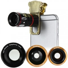Excelvan Fish Eye Wide Angle Macro Telephoto 4-in- GOLDEN