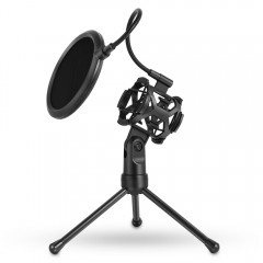 PS - 2 Microphone Pop Filter with Adjustable Deskt BLACK