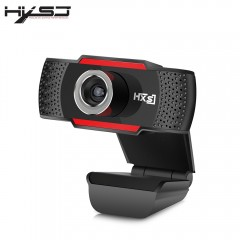 HXSJ S30 1 Megapixel HD Camera Webcam with Microph BLACK