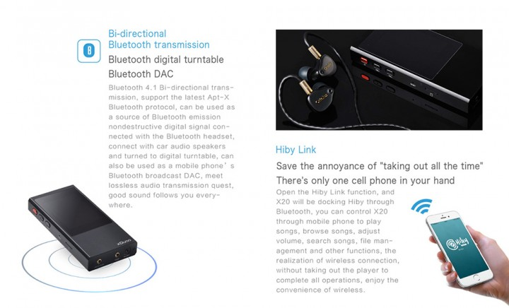 XDUOO X20 Portable Lossless Music Player Bluetooth BLACK