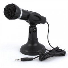 3.5MM Plug in Microphone For Computer Recording Om BLACK