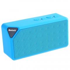 X3 2 in 1 Wireless Mini Hands Free Bluetooth FM Ra BLUE