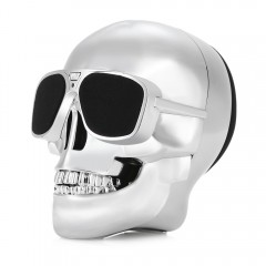 X18 Skull Bluetooth Speaker Portable Wireless Play SILVER