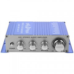 HY - 2002 Hi-Fi 12V Mini Auto Car Stereo Amplifier BLUE