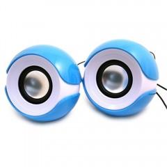 Electronic Mini Speaker Big Eyes USB Computer Ster BLUE